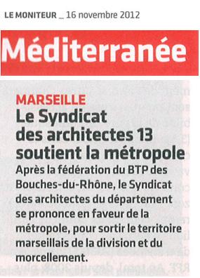Le projet de m tropole syndicat des architectes des for Syndicat des architectes